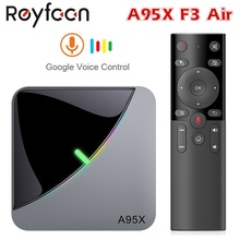 Android 9,0 RGB Licht Smart TV Box Amlogic S905X3 USB 3,0 1080P H.265 4K 60fps Wifi Google Player youtube A95X F3 Air 8K TVBOX