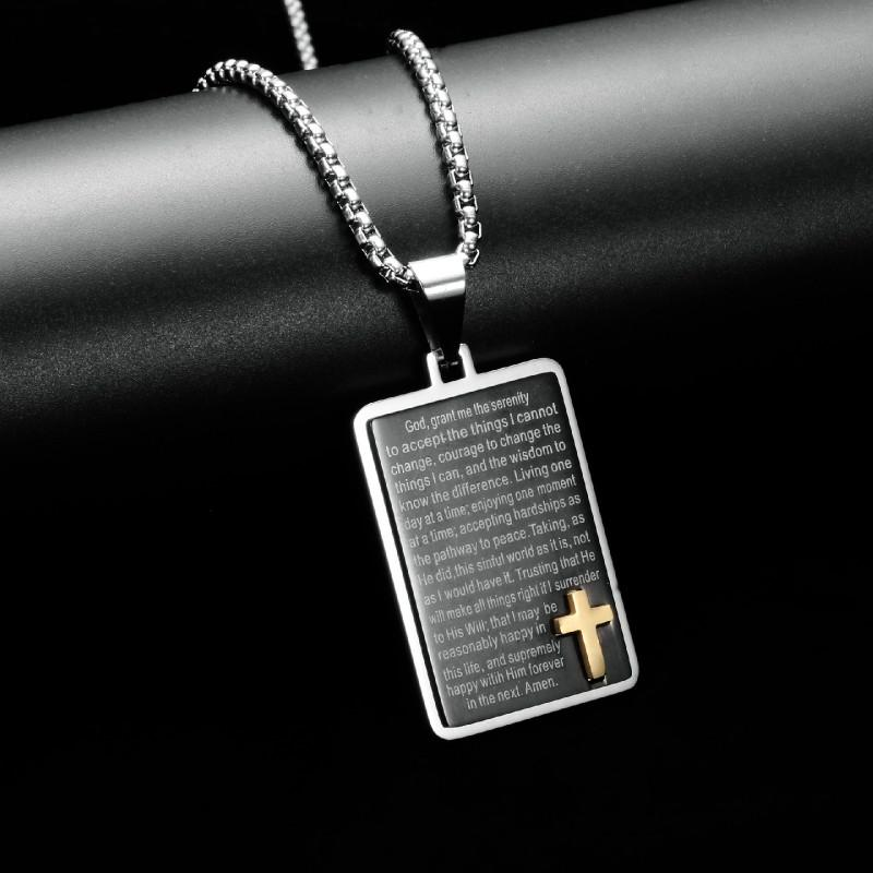 New Hot Sale Necklace For Men Jesus Crystal Cross Pendant Necklace Cross Necklace Fashion Jewelry
