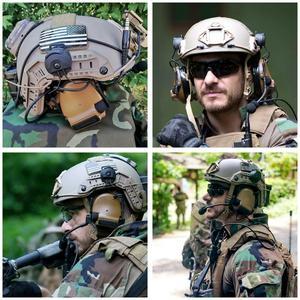 Image 5 - TAC SKY comtac iii capacete suporte de silicone earmuff versão esportes ao ar livre redução ruído captador militar fone ouvido tático cb