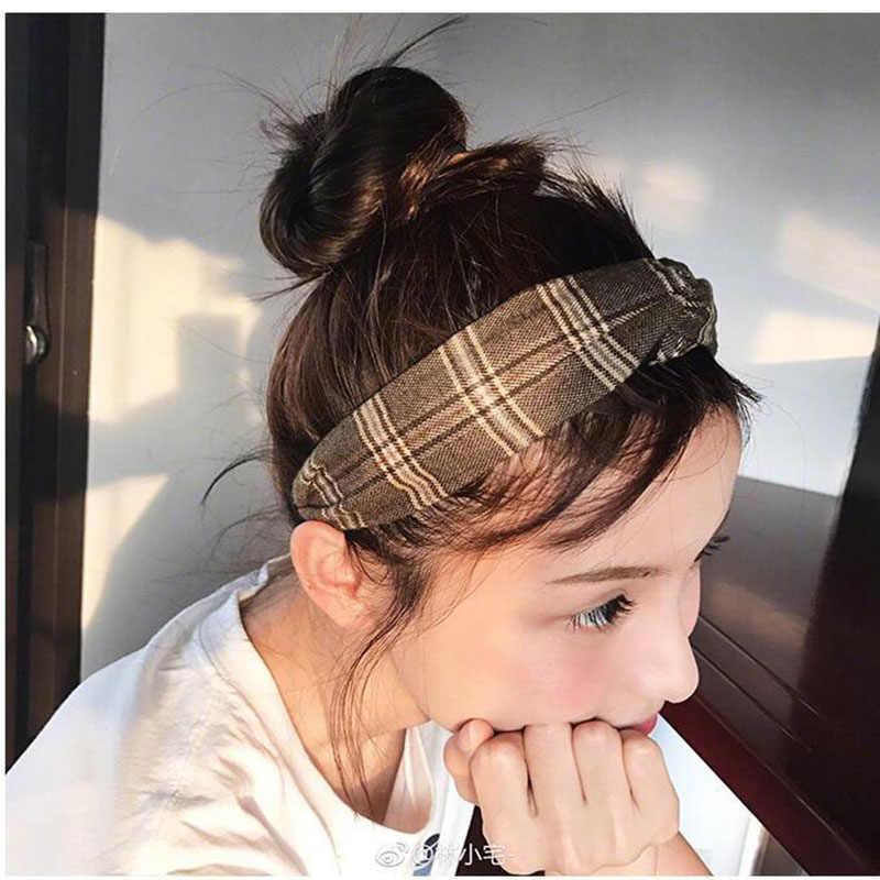 حار أزياء النساء العمامة تويست عقدة رئيس التفاف العصابة مطاطا منقوشة مخطط مرونة العصابات الشعر للنساء الفتيات إكسسوارات الشعر