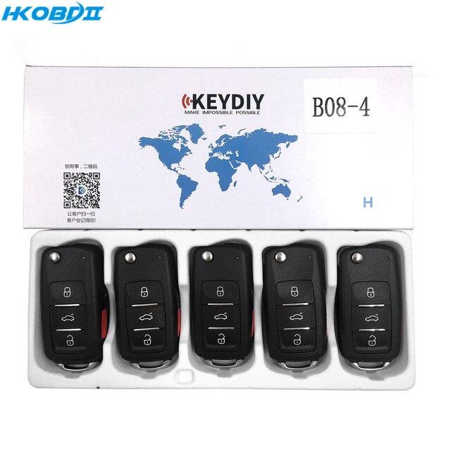 HKOBDII KEYDIY الأصلي KD B08 3 + 1 B08 4 4 زر B سلسلة العالمي عن بعد ل KD900/KD X2/ URG200/KD MINI B سلسلة عن بعد