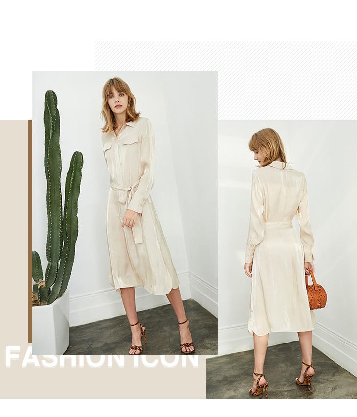 ONLY 19 Autumn Glossy Shirt Dress | 119307623 11