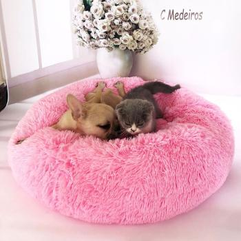 Soft Winter Small Dog Cat Cave Sleeping Bed Warm Plush Round Cushion Nest Pet Supply image