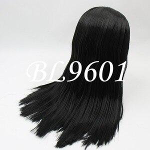 Image 4 - Blyth הבובה קפוא פאה רק rbl קרקפת הכיפה שומן שיער, זהב בלונד שחור ישר כחול כתום שיער