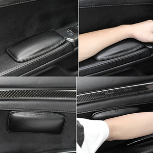 Image 2 - 1pcs 18x8cm Leather Knee Pad Car Interior Pillow Comfortable Elastic Cushion Memory Foam Universal Thigh Support Car Accessories