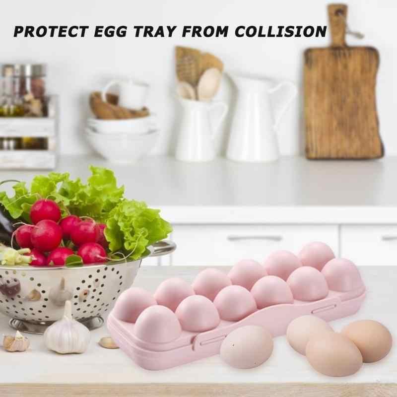 Telur Tray Pemegang Dapur Kulkas Satu Lapisan Telur Kotak Kotak Penyimpanan Praktis Rumah Kreatif Portabel Piknik Makanan Kotak Penyimpanan