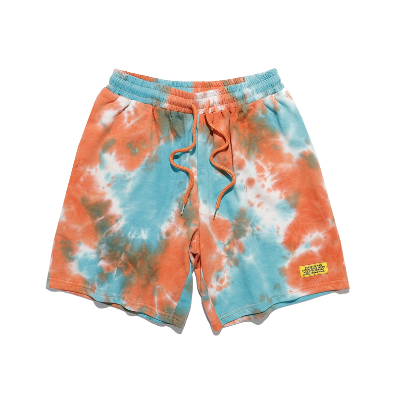 New Arrival Fashion Men Women High Quality Tie-Dye Drawstring Pocket Beach Shorts