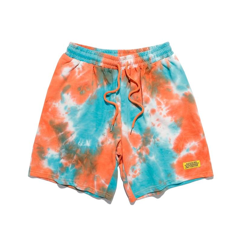 New Arrival Fashion Men Women High Quality Tie-Dye Drawstring Pocket Beach Shorts