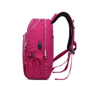 Image 2 - Tegaoteバックパック女性ボルサbagpackマルチポケットナイロン防水旅行バックパック子供スクールバッグ代の少女usb充電