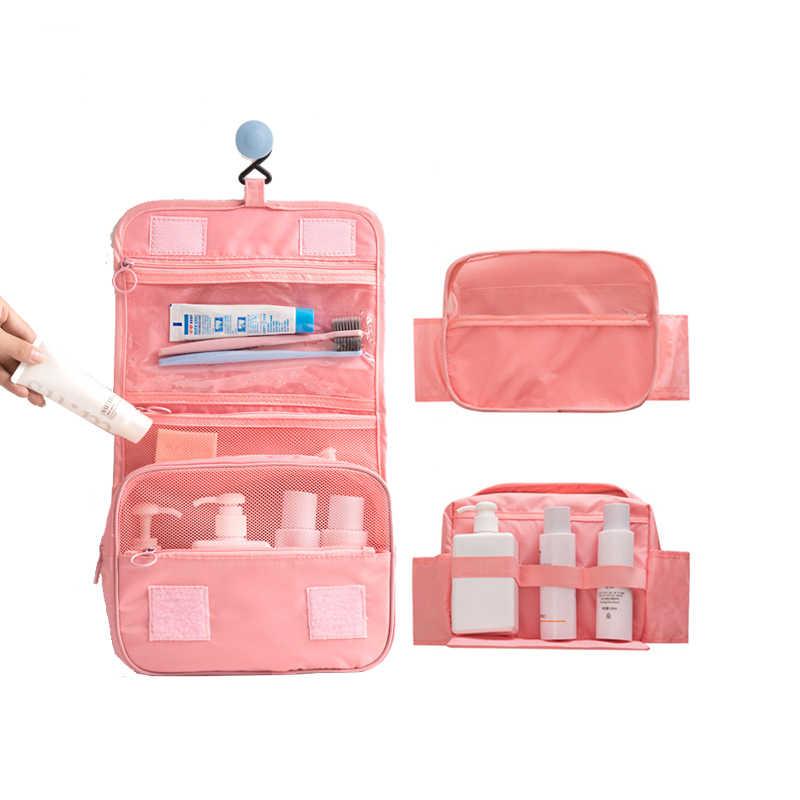 Nueva bolsa de almacenamiento impermeable de gran capacidad de viaje para hombres y mujeres, bolsa de cosméticos con gancho portátil, accesorios de viaje de moda