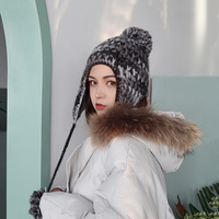 Earmuffs And Velvet Hat Children Autumn Winter Hairball More Warm Lei Feng's Cap Women Knitted Caps Flight Winter Hats For Women