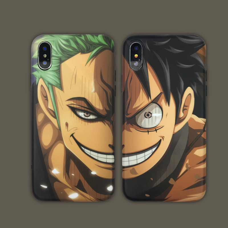 For iPhone 8 11 Pro MAX case silicone <font><b>cover</b></font> Roronoa Zoro <font><b>One</b></font> Piece Luffy <font><b>Phone</b></font> Case for iPhone 7 <font><b>Plus</b></font> 6S 8 <font><b>Plus</b></font> X XR XS MAX Case image