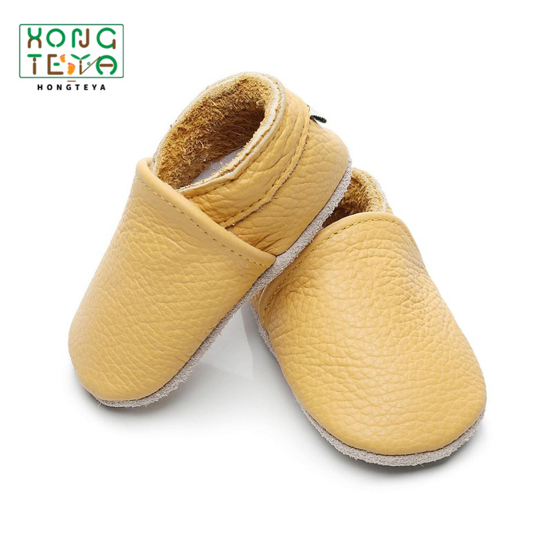 2020 Baby Shoes Genuine Leather Baby Moccasins Shoes  First Walker Shoes Soft Sole Toddler Shoes Infant Baby Baby Shoes Boy
