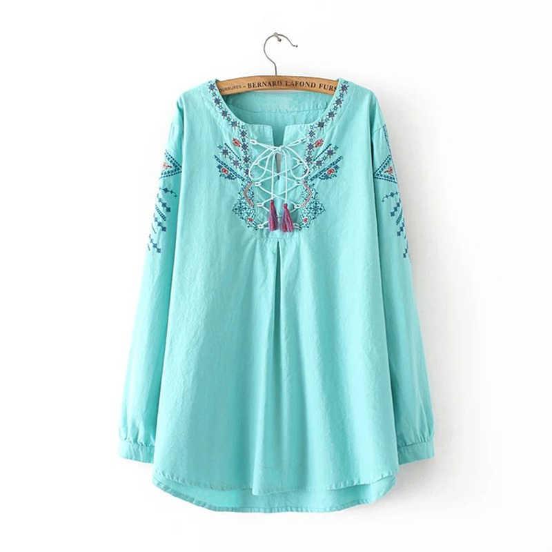 プラスサイズホット販売 Tシャツ女性の夏のファッション刺繍女性 Tシャツ女性長袖 Tシャツトップス Tシャツファム