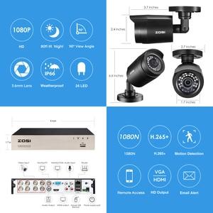 Image 2 - ZOSI 8CH CCTV מערכת H.265 + HD TVI DVR ערכת 8 1080p בית אבטחה עמיד למים חיצוני ראיית לילה מצלמה מעקב וידאו ערכת