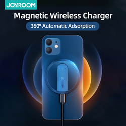 Joyroom Magnetic Wireless Charger For iPhone 12 Pro Max 15W Fast Charger For iPhone 12 11 XS X XR Charger For Airpods Visible Qi