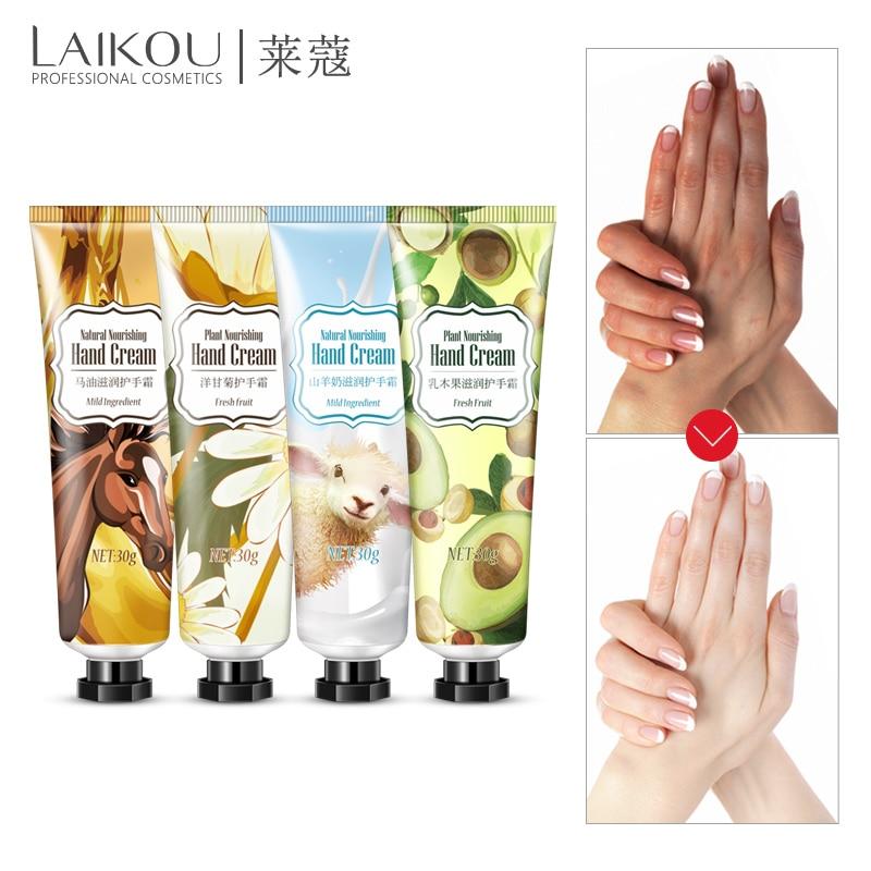 LAIKOU Tender Hand Cream Hand Care Antibacterial Anti-chapping Whitening Nourishing Anti-Aging Skin Care Cream 4pcs