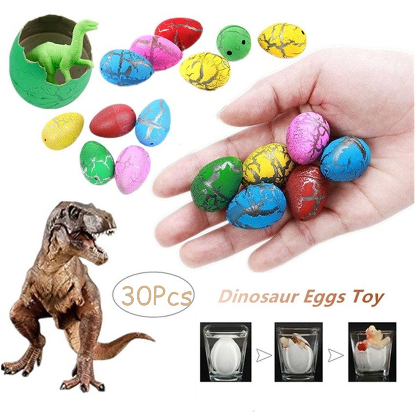 30/60Pcs Colorful Funny Inflatable Magic Growing Dino Eggs Hatching Dinosaur Add Cracks Kids Toy Educational Toys for Children