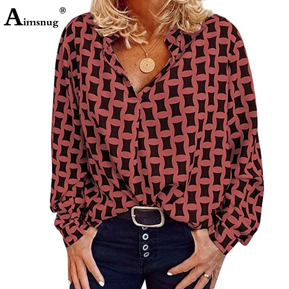 Plus Size 4xl 5xl Women's Blouse 2020 Feminine Print Blouses Tops Long Sleeve Turn-down Collar Office Ladies Casual Loose blusas