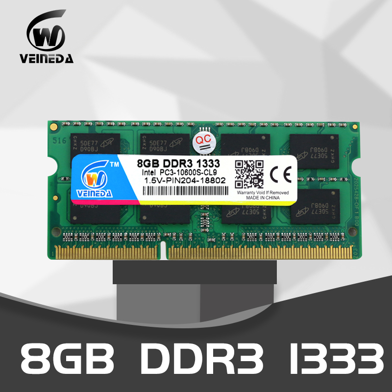 VEINEDA <font><b>laptop</b></font> memory DDR3 2gb 4gb <font><b>8gb</b></font> 1333 1600MHz 204pin 1.5V PC3-10600 sodimm <font><b>Ram</b></font> ddr 3 Notebook Memory image