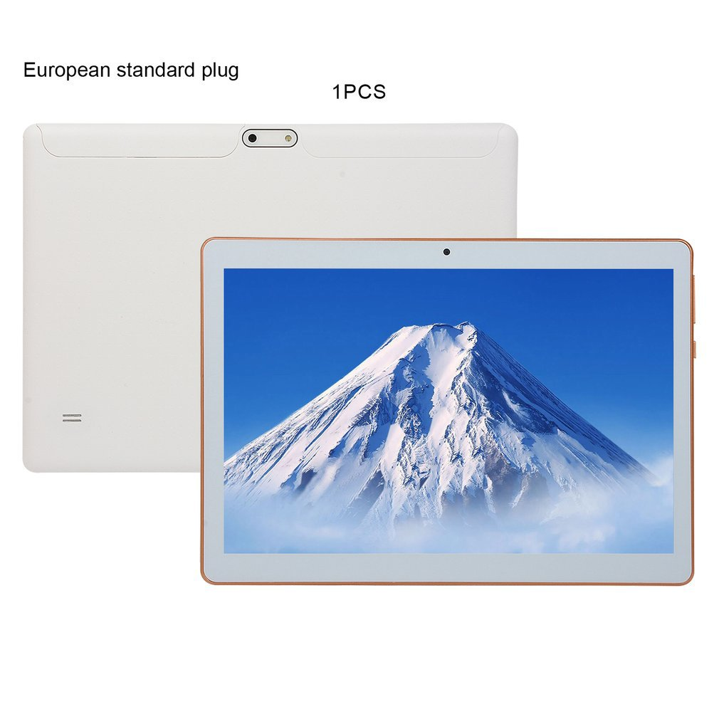 KT107 Plastic Tablet 10.1 Inch HD Large Screen Android 8.10 Version Fashion Portable Tablet 8G+64G White Tablet Xiajia