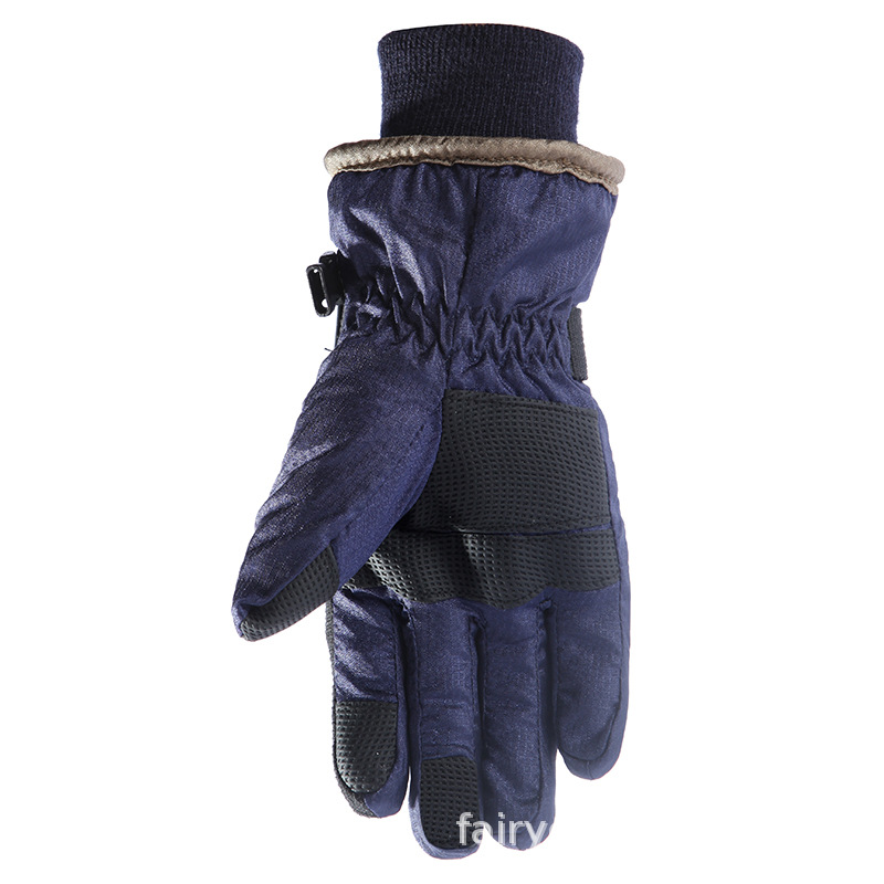 2019 new winter ski gloves kids Waterproof Anti Cold Warm Gloves Outdoor Sport Full Finger Mitten Adjustable Non slip ski gloves in Skiing Gloves from Sports Entertainment