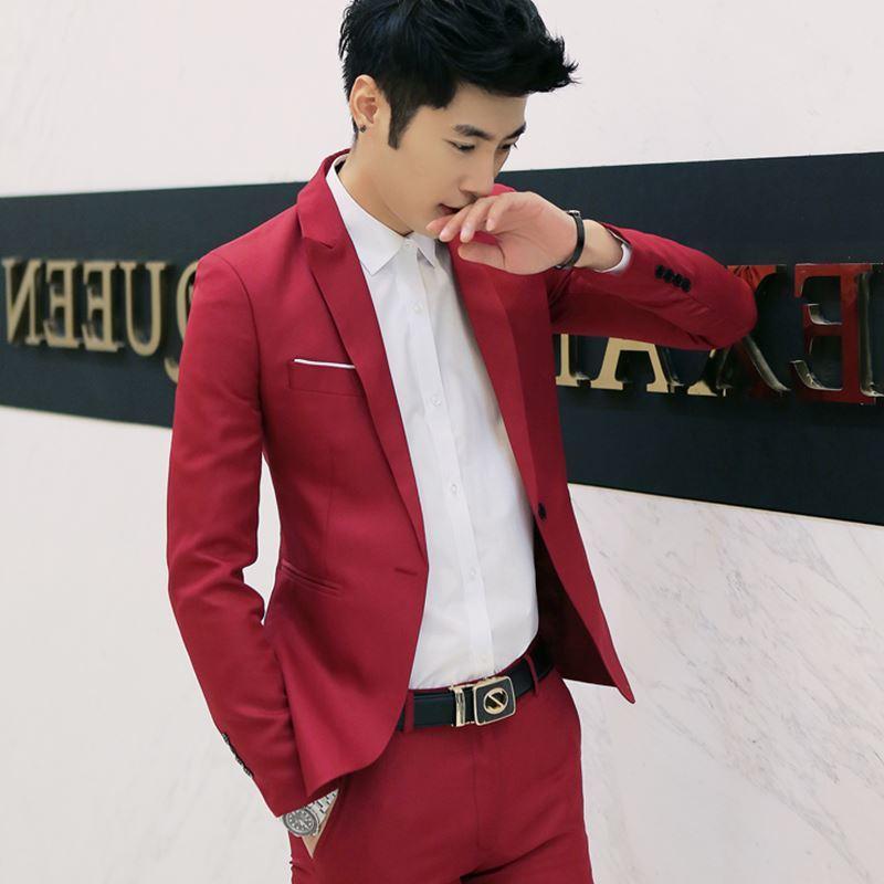 Men's Suit Men Business Suit Blazer Long Sleeve Shirts C