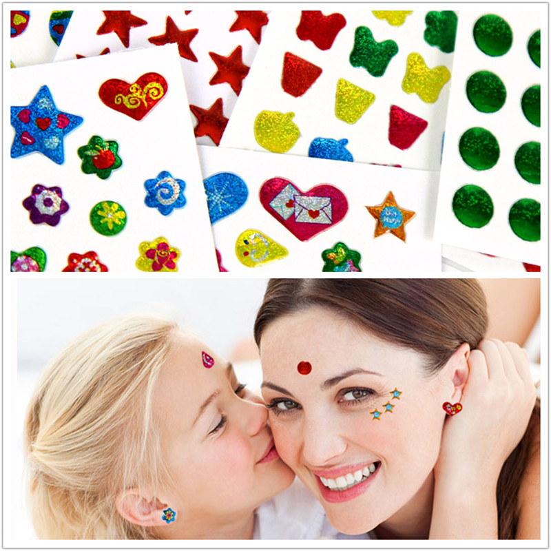 Children's Red Dot Nevus Show Forehead, Corner Of Eye, Ear, Heart-shaped Pentagram, New Year's Festival Party Makeup