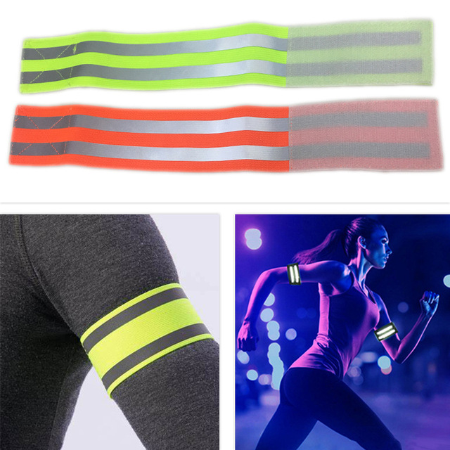 Reflective Bands Elasticated Armband Wristband Ankle Leg Straps Safety Reflector Tape Straps for Night Jogging Walking Biking 4