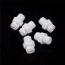 Vendita 5PCS 1/4 ''Push Fit Tubo 1/4 ''Filetto Maschio Quick Connect RO Water Connessione di Colore Bianco(China)
