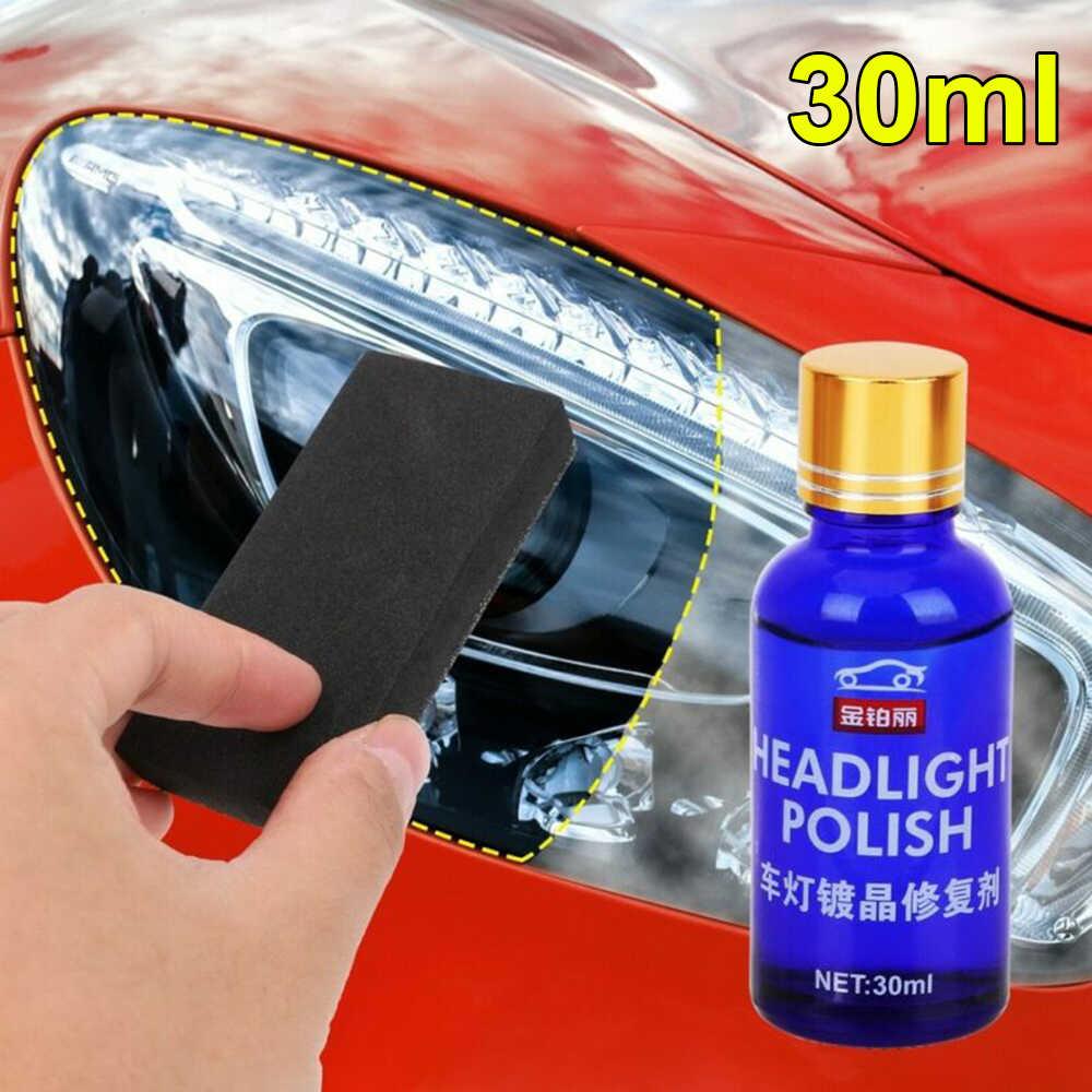 30 Ml Blauwe Auto Koplamp Plating Kristal Reparatie Middel Vloeistof Spons Hars Solvent Additief Auto Nano Vloeibare Keramische Coating