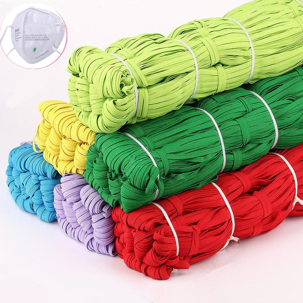 6mm Elastic Band Colorful Soft Latex Yarn Elastic Bands Masks Rubber Band DIY FACE MASK Sewing Garment Applique Bags Accessories