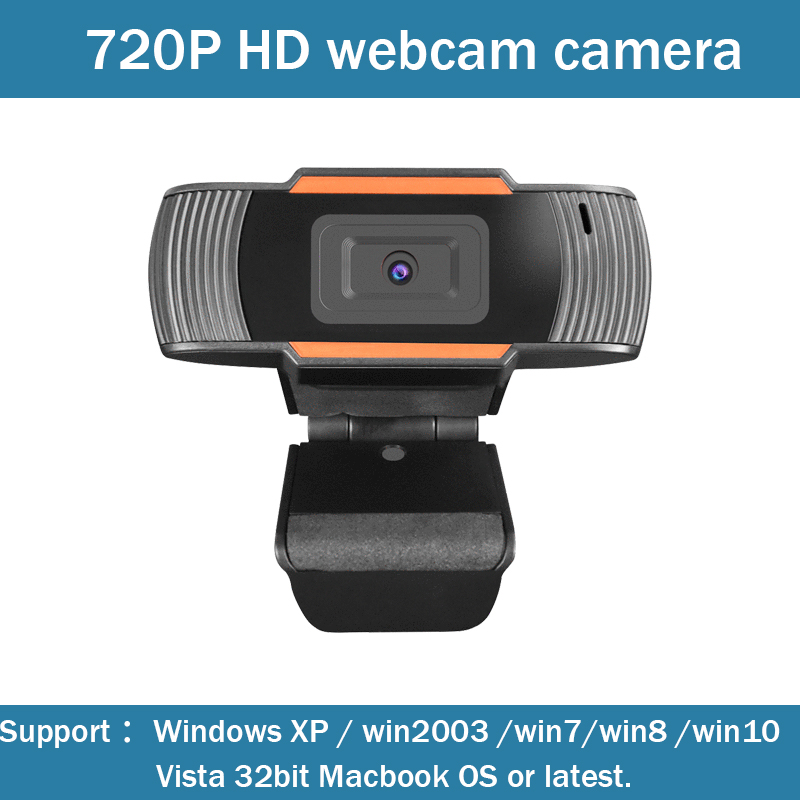 720P HD Webcam Camera, 1280 * 720 HD Webcam Desktop Laptop USB Webcam With Built-in Microphone For Video Calling