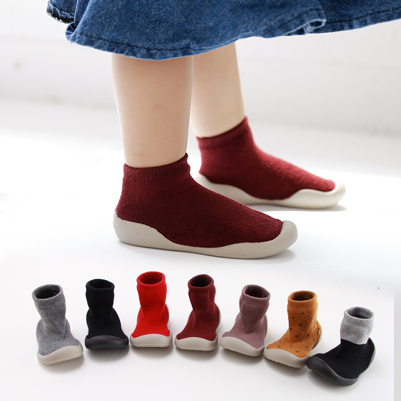 Newborn Baby Shoes Baby Anti-slip Toddler Socks Baby Soft Rubber Sole Floor Sock Shoes Baby Non-slip Firstwalk Shoes Socks