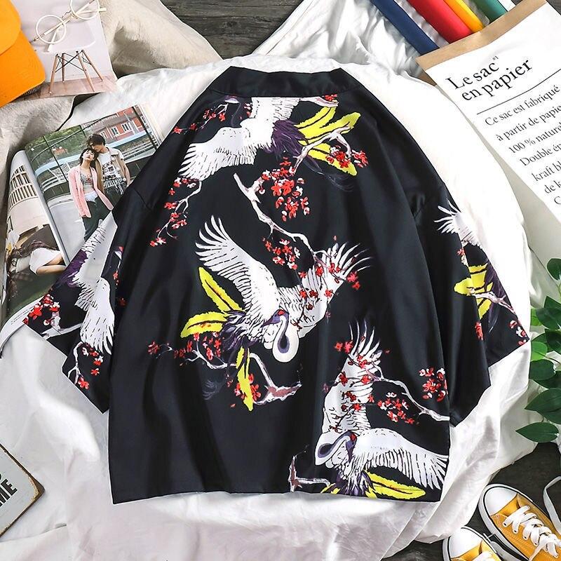 Yukata Haori Men Japanese Kimono Cardigan Men Samurai Costume Clothing Kimono Jacket Mens Kimono Shirt Yukata Haori