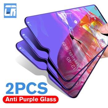 Перейти на Алиэкспресс и купить 2 шт. 2.5D закаленное стекло с защитой от синего света для Huawei P Smart Y5 Y6 Y9 2019 P Smart Z Plus Nova 3 5 5i Pro Защитная пленка для экрана