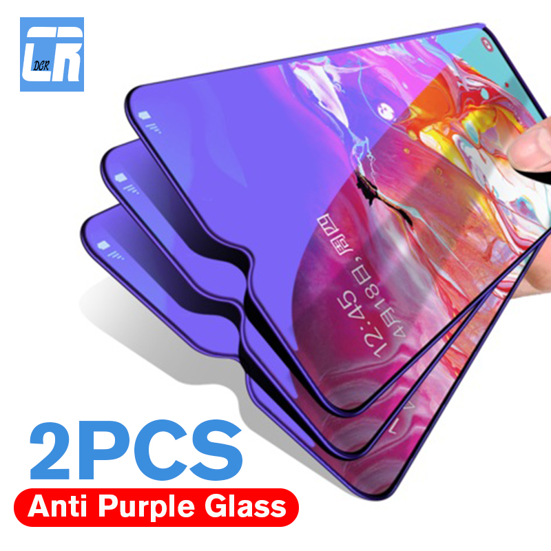 2PCS 2.5D Anti-blue Light Tempered Glass For Huawei P Smart Y5 Y6 Y9 2019 P Smart Z Plus Nova 3 5 5i Pro Screen Protector Film