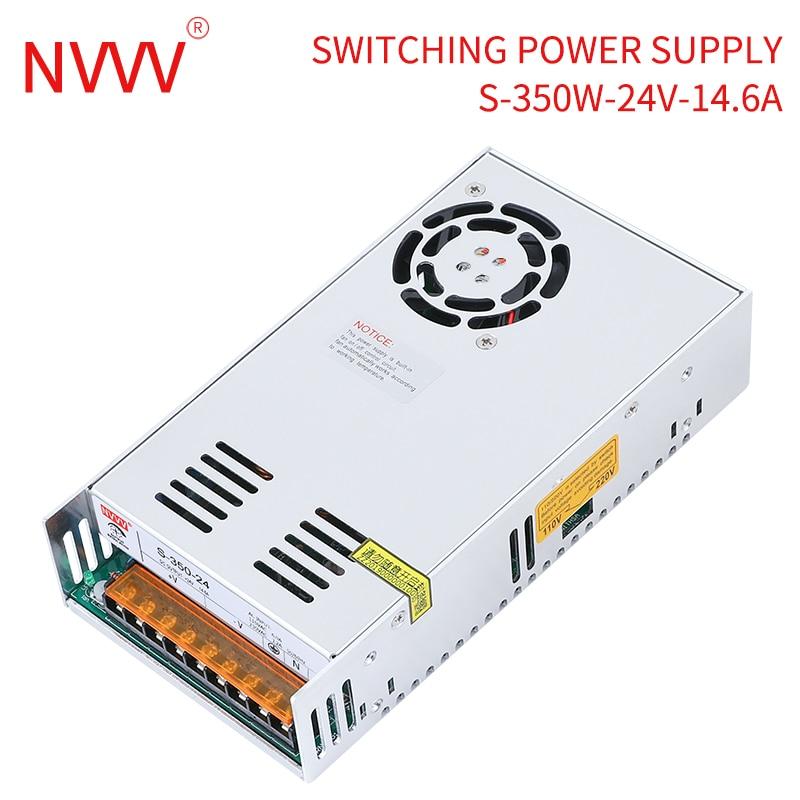 NVVV Switching Power Supply S-350W AC 110V/220V to DC 5v 12v 15v 24v 30v 36v 48v Source Transformer SMPS for LED Monitoring Lamp