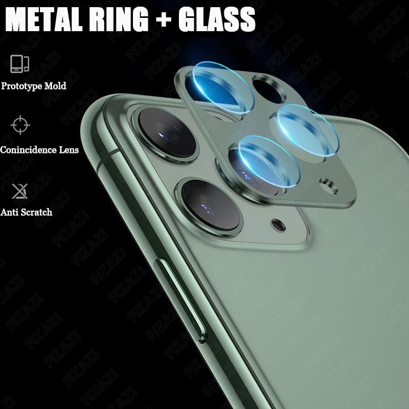 iPhone 11 Pro Max Back Camera Lens Tempered Glass Film Metal Protection Ring Screen Protector 2