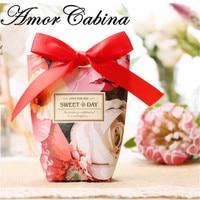 50pcs Red Vintage Rose Wedding Like Candy Box Bomboniere Paper Gift Box Party Wedding Decoration Chocolate Box
