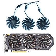3 pces/1 lote 75mm pld08010s12h t128010sm 3pin gtx970 ventilador de refrigeração para gigabyte GV-N970WF3-4GD placas gráficas fã