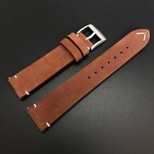 SD2503 pasek ze skóry naturalnej do rozmiaru Lug 20mm zegarek do Steeldive zegarek do nurkowania brązowy kolor kawy ze stali nierdzewnej stalowa klamra