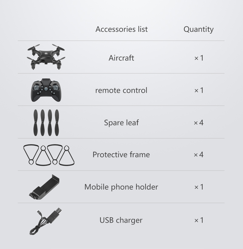 XKY KY902 Mini RC Drone 2.4Ghz RC Fold Drone Wifi FPV 4K HD Camera Selfie Drone Altitude Hold &Headless Mode RC Quadcopter Drone