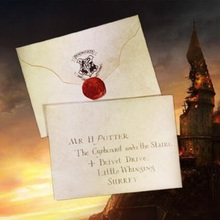 Harriom Cosplay Admission Magic Notice Letter Potter Toys Children Party Show Jouet Gift