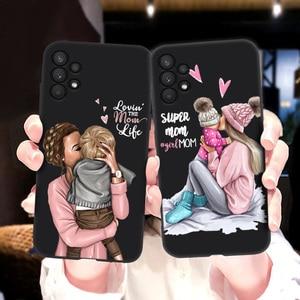 Image 3 - สำหรับ Samsung A32กรณี Super Mom ทารกหญิงสำหรับ Samsung Galaxy A32 4G Funda SamsungA32 A 32 A325F กันชน