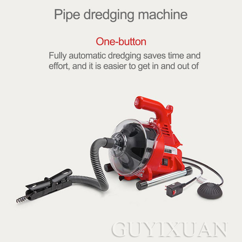 Toilet Dredge Through Sewer Home Electric Pipe Dredging Machine Toilet Kitchen Clogging Tool