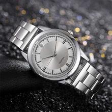 Gümüş erkek saatler tam çelik basit İş erkekler için elbise izle su geçirmez erkek kuvars saat kol saati hızlı gemi