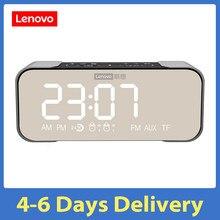 Lenovo-altavoz L022 BT con Radio, reloj despertador Digital, tono de llamada, BT, alarmas duales, entrada de tarjeta TF, entrada auxiliar