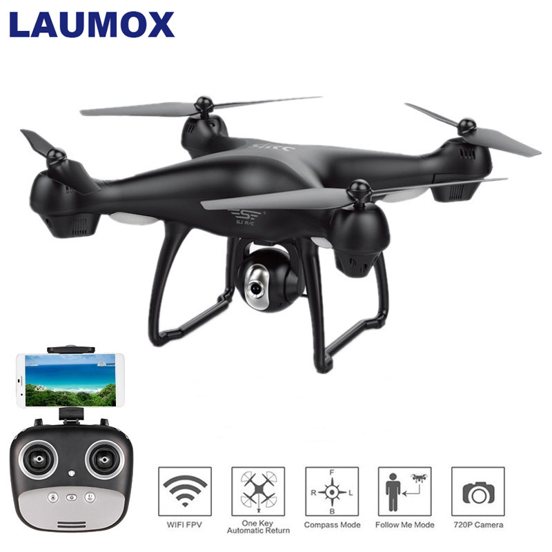 LAUMOX S70W GPS Drone With 720P/1080P HD Camera Adjustable Wide-Angle FPV Professional Quadcopter Helicopter RC Drone Follow Me image