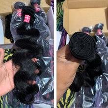 Fasci di onde del corpo malese dei capelli di Longqi 30 pollici estensione dei capelli umani tessuto 3 4 fasci fasci di capelli vergini neri naturali